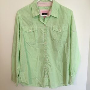 Lilly Pulitzer Maternity Button Down gingham Top